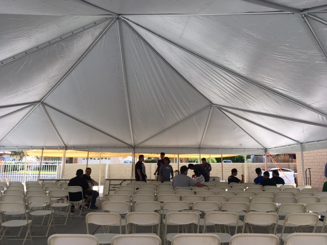 pole tent auditoriumseating