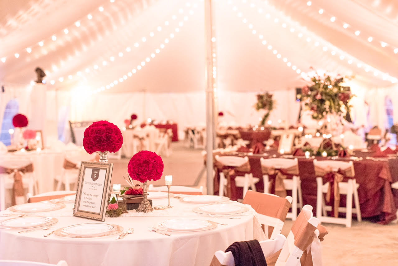 frame tent banquet seating