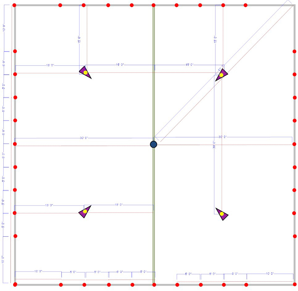 pole tent pole placement diagrams