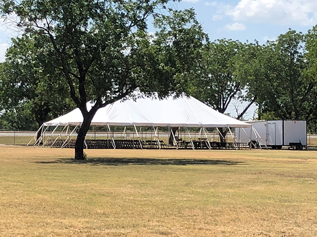 50' wide Pole tents