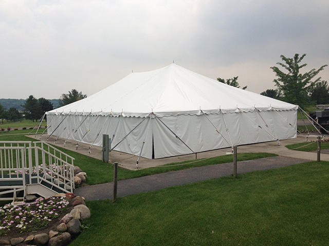 solid party tent sidewalls
