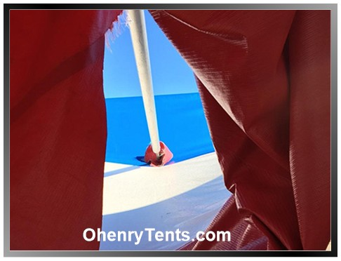 party tent side pole fitting