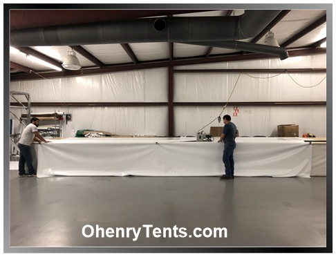 Party tent welded seams